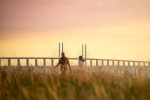 A,Couple,Looks,Out,Over,The,Öresund,Strait,With,The